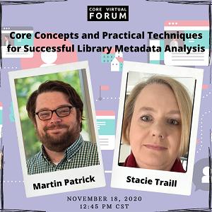 Explore Metadata Analysis at #CoreForum2020