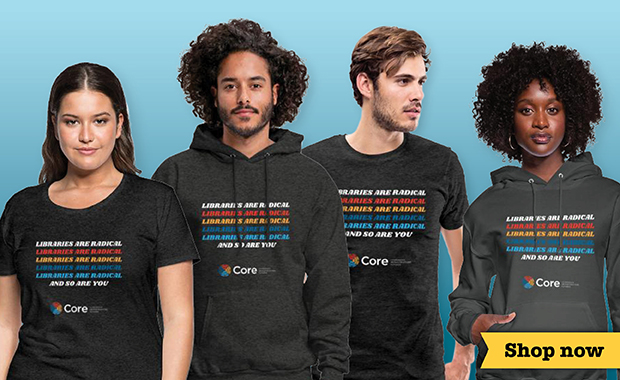 Support library workers in need with new, cool, radical Core wear